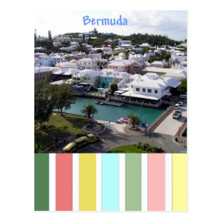 Tropical Colors of Bermuda Postcard