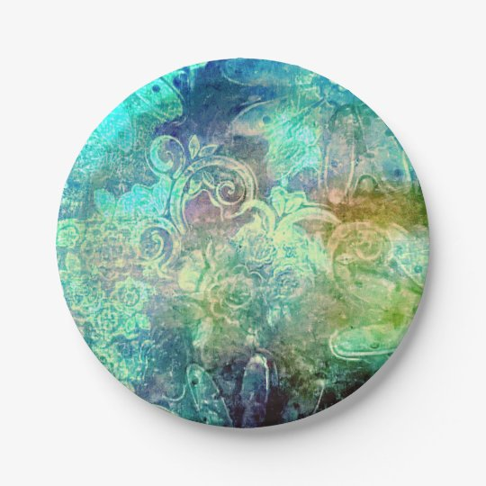 Tropical colours 7 inch paper plate