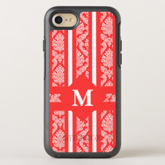 Tropical Coral Damas with Monogram OtterBox Symmetry iPhone 7 Case