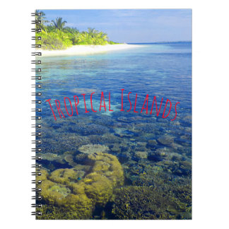 Tropical Coral Island Spiral Notebook