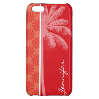 Tropical Coral Red Swirl iPhone 5C Covers