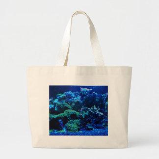 Tropical Coral Reef Large Tote Bag