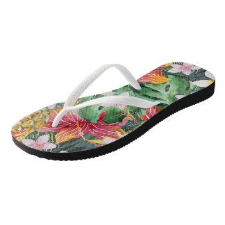 Tropical Cornucopia Flip Flops