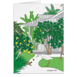 Tropical Cottage Card