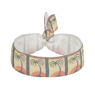 Tropical Crochet Print Stretchable Bracelet or Hair Tie