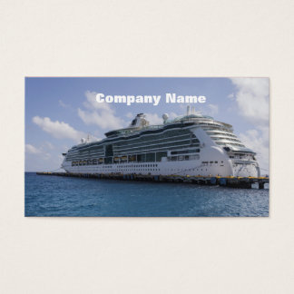 Tropical Cruise Ship Business Card