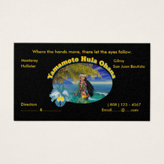 Tropical Custom For Yamamoto Hula Business Cards
