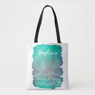 tropical custom personalized tote bag ocean design