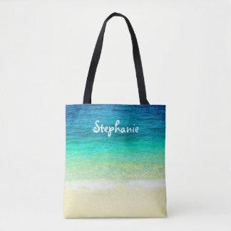 tropical custom personalized tote beach design
