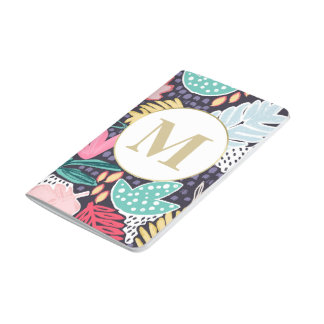 Tropical Cutouts Colourful Pattern Pocket Journal