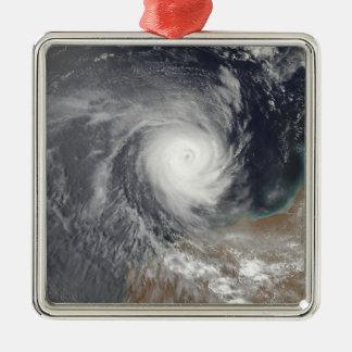 Tropical Cyclone Billy off Australia Silver-Colored Square Ornament