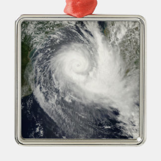 Tropical cyclone Boloetse Silver-Colored Square Ornament
