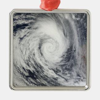 Tropical Cyclone Dianne 2 Silver-Colored Square Ornament