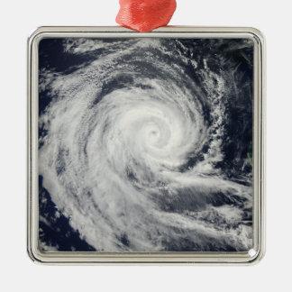 Tropical Cyclone Dianne Silver-Colored Square Ornament