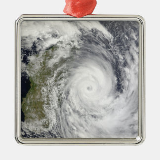 Tropical Cyclone Gael off Madagascar 2 Silver-Colored Square Ornament