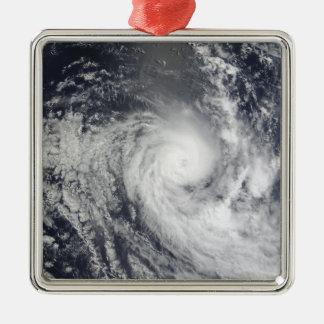 Tropical Cyclone Ilsa Silver-Colored Square Ornament