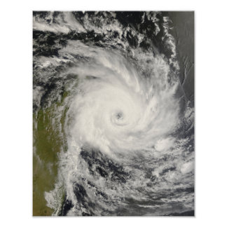 Tropical Cyclone Ivan over Madagascar Poster