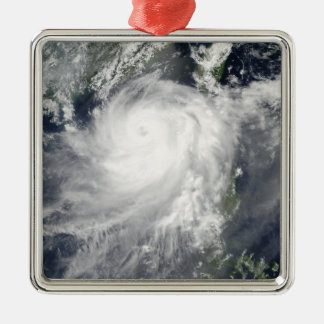 Tropical Cyclone Linfa Silver-Colored Square Ornament