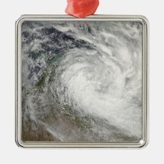 Tropical Cyclone Paul over Australia 2 Silver-Colored Square Ornament