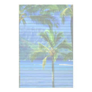 Tropical Day at the Beach Custom Stationery