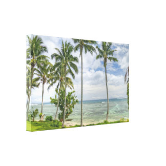 Tropical Day with Coconut Palms Canvas Wrap