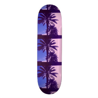 TROPICAL DAYS IN PINK & BLUE SKATEBOARD
