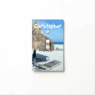 Tropical Decor Beach Cabana Light Switch Cover