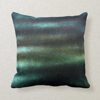 Tropical Deep Wood Green Stripes Lines Velvet Throw Pillow