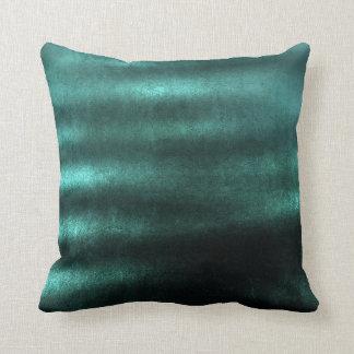 Tropical Deep Wood Green Teal Stripes Lines Velvet Throw Pillow