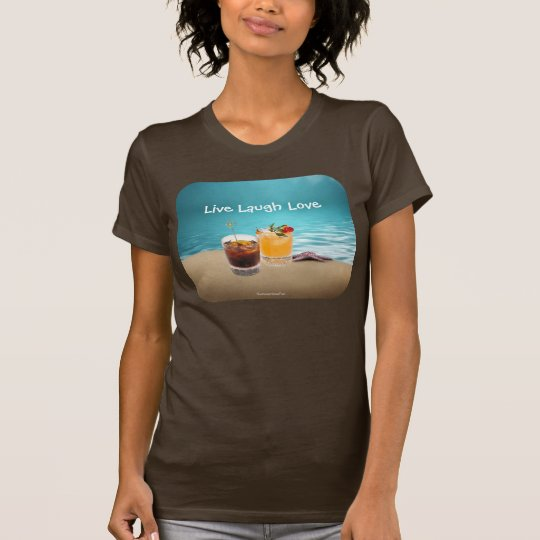 Tropical Delightful Drink On The Beach T-Shirt