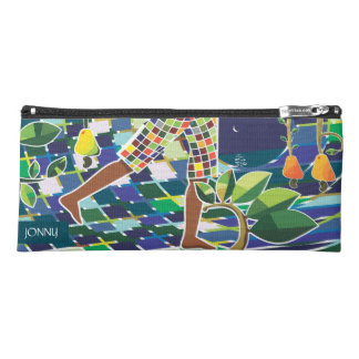 tropical design custom name pencil case