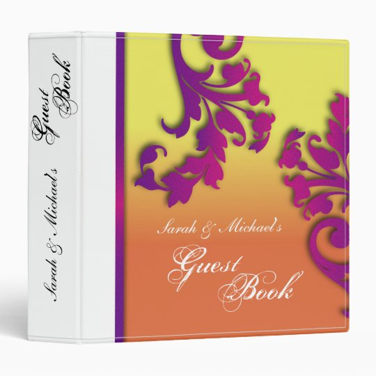 Tropical Destination Blooms Wedding Guest Book 3 Ring Binder