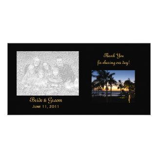 Tropical Destination Thank You Photo Cards
