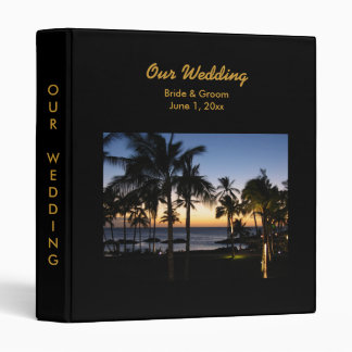 Tropical Destination Wedding Album Binder