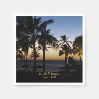Tropical Destination Wedding Paper Napkins