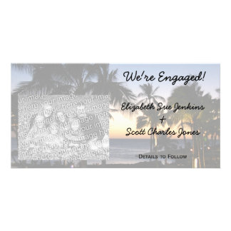 Tropical Destination We're Engaged Photo Cards