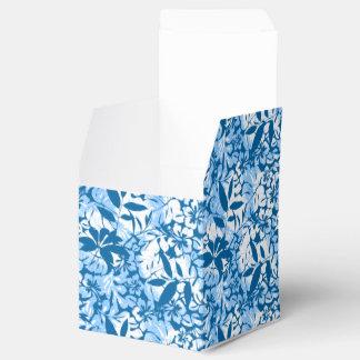 Tropical distressed blue floral favor box