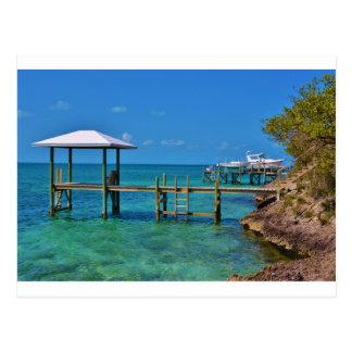 tropical dock postcard