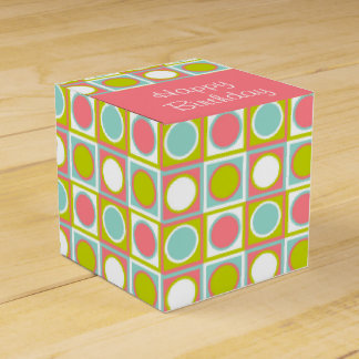 Tropical Dots Happy Birthday Favor Boxes