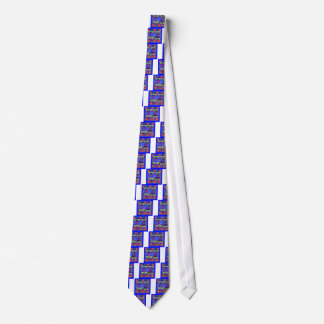 Tropical Dragonflies Blue Flower gifts Tie