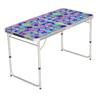 Tropical dream in pink beer pong table