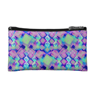Tropical dream in pink cosmetic bag