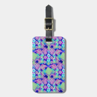Tropical dream in pink luggage tag