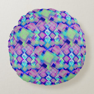 Tropical dream in pink round pillow