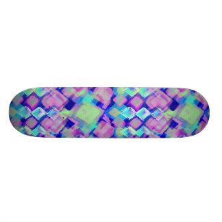 Tropical dream in pink skateboard