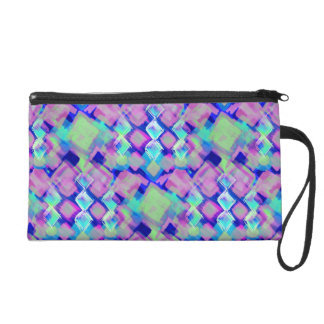 Tropical dream in pink wristlet clutch