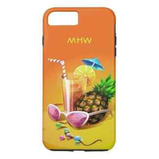 Tropical Drink custom monogram phone cases