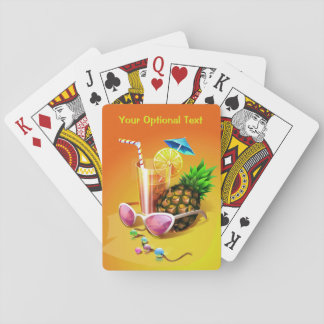 Tropical Drink custom playing cards