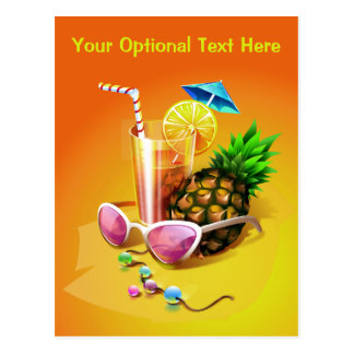 Tropical Drink custom postcard