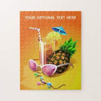 Tropical Drink custom text puzzle
